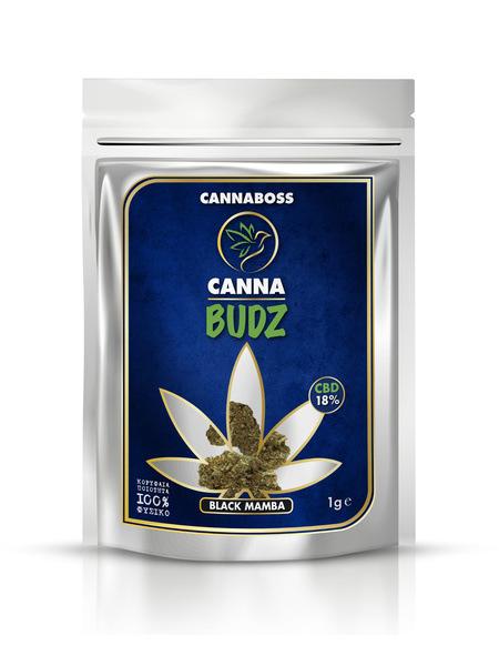 CBD Flowers CannaBudz Black Mamba 18% CBD 1g