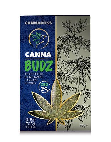 CannaBudz Grinded Hemp CBD Flowers 20g - 2% CBD