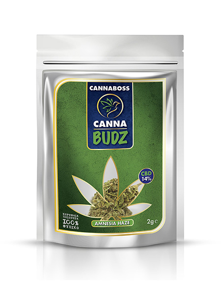 CBD Flowers CannaBudz Amnesia Haze 14% CBD 2g